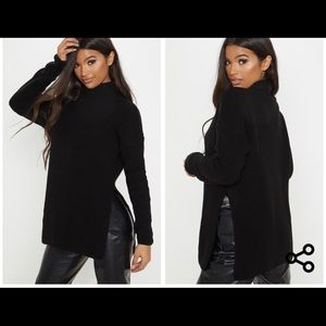 Pretty Little Thing Black High Oversized Sweater